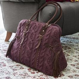 Tasche Donna burgunder/braun