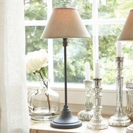 Tischlampe Swindon grau/beige