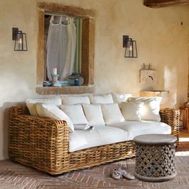 Sofa Rimini braun/creme