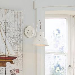 Wandlampe Sidney antikweiß