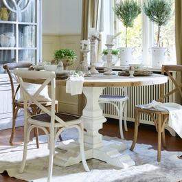 Tisch Sturbridge braun/weiß