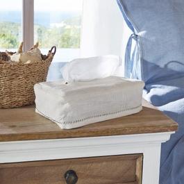 Husse für Taschentuchbox Monthelie weiß