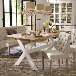 Tisch Covington braun/antikweiß