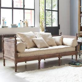 Sofa Douville graubraun/creme