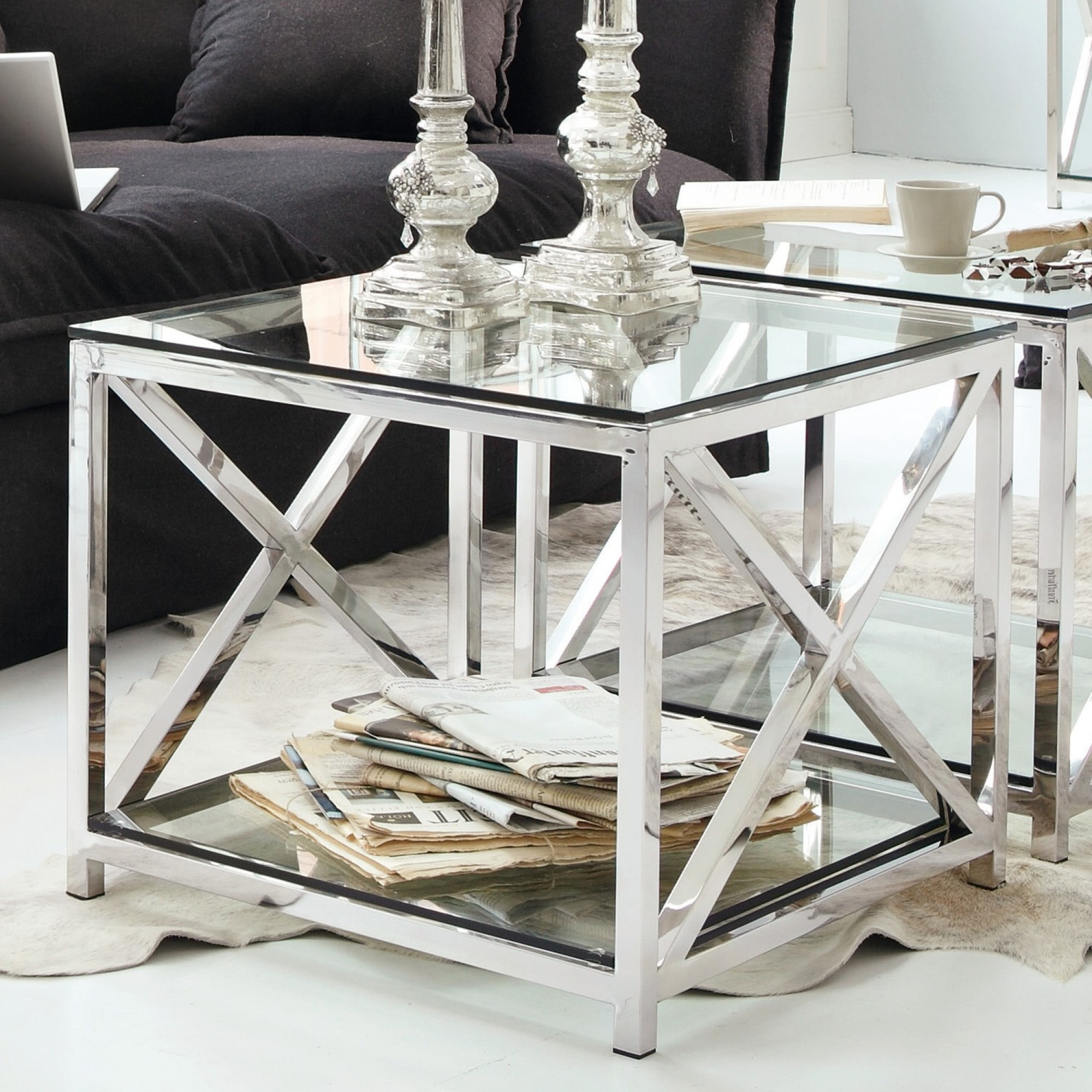 beistelltisch stamford loberon coming home. Black Bedroom Furniture Sets. Home Design Ideas